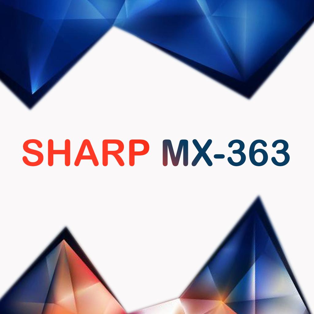 سرویس منوال کپی شارپ MX-363